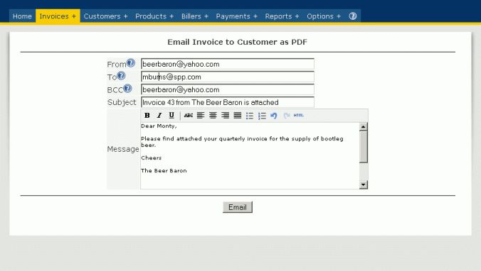 Email Invoice Template Free | invoice example