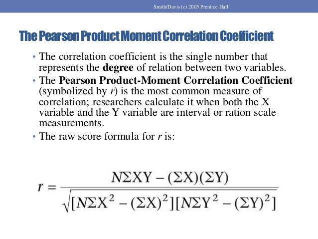 Measure of Relationship: Correlation Coefficient