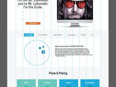 Bootstrap 3 Example Layout by Aaron K. White - Dribbble