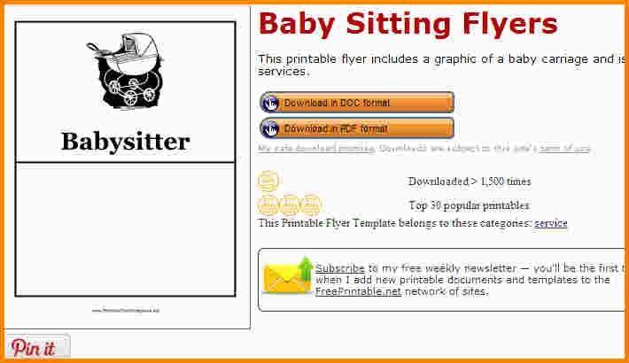 11+ babysitting flyer maker | nypd resume