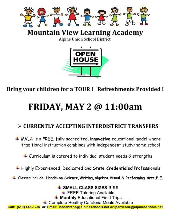 Mountain View Learning Academy OPEN HOUSE - May 2, 2014