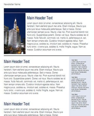 Free Business Newsletter Template | HTML email template - Tried ...