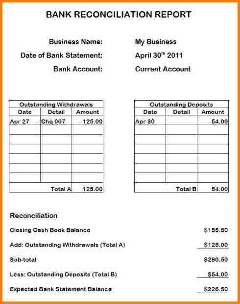 Bank Reconciliation Template.Bank Reconciliation Template Example ...