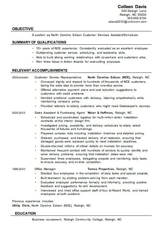 Customer Service Resume Examples - Customer Service Resume ...
