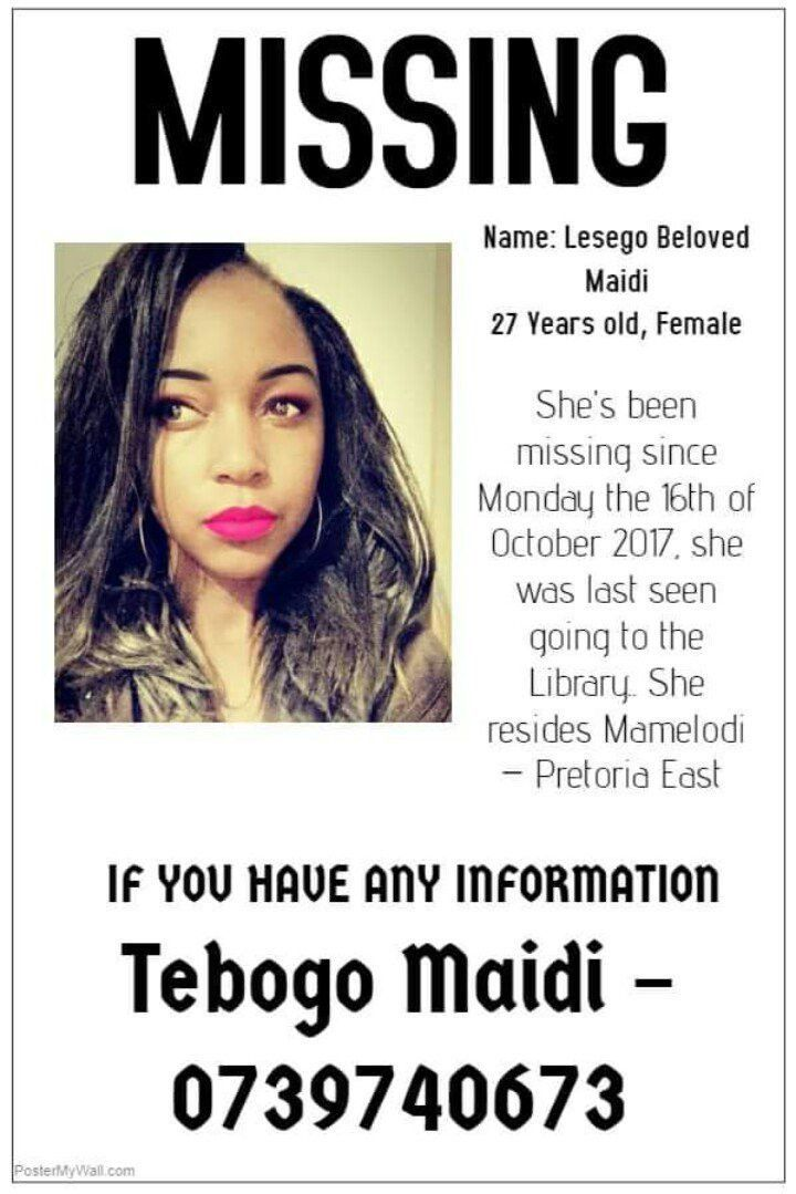 missingperson hashtag on Twitter