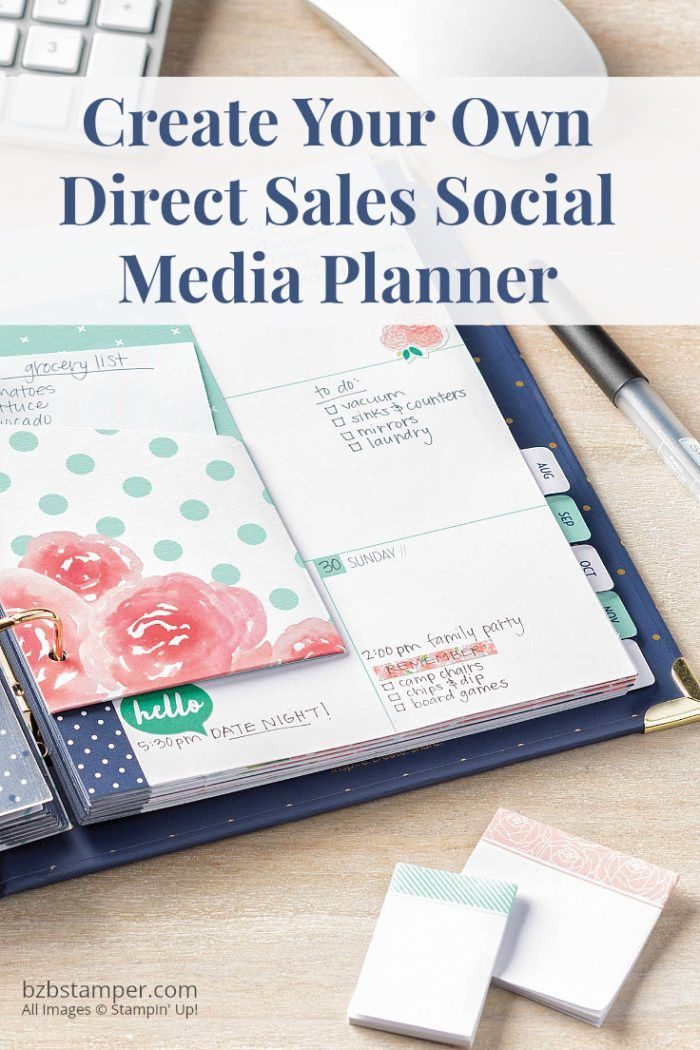 Create A Direct Sales Social Media Planner - Barb Brimhall | The ...