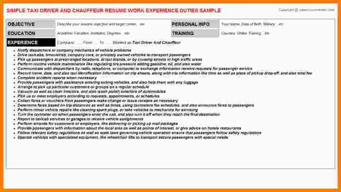8+ chauffeur taxi cv exemple | exemple lettre