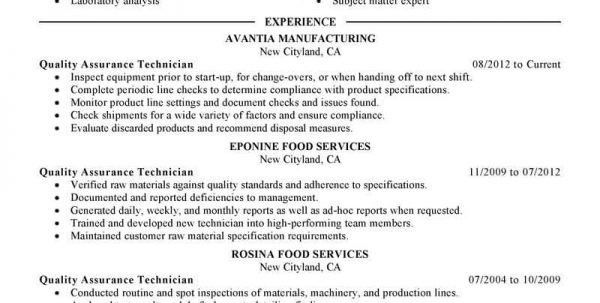 Qa Resume Summary. quality assurance manager resume samples ...