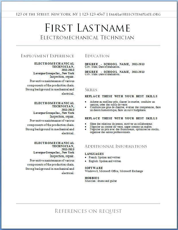 Free Resume Builder Microsoft Word – Okurgezer.co