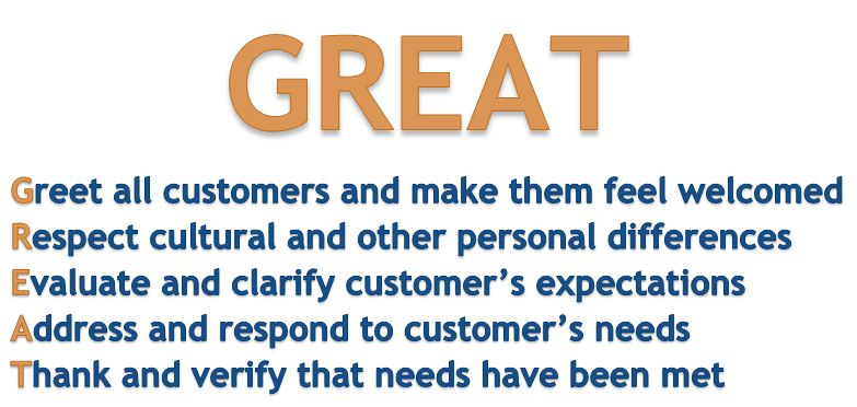 GREAT: Customer Service Guidelines