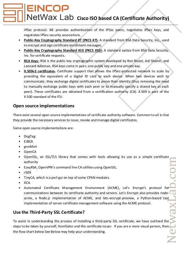 Cisco iso based CA (certificate authority)
