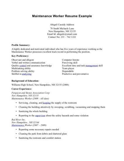 Maintenance Resume. Cover Letter Mechanic Resume Template Aircraft ...