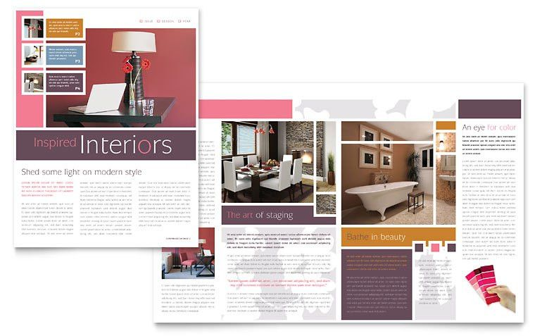 Interior Designer Newsletter Template - Word & Publisher
