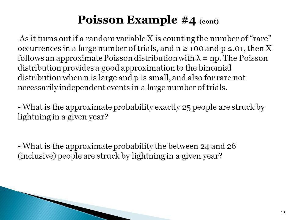 Chapter 5.5: Poisson Distribution, Poisson Approximation to ...