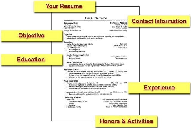 how to do a resume for your first job