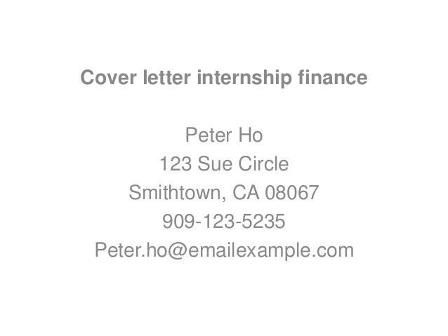 sample cover letter internship banking sales cover letter latest ...