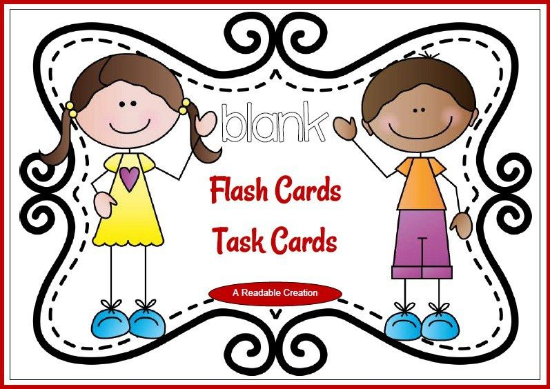 FREE RESOURCE :: Blank Flash Cards - Task Cards {Freebie}