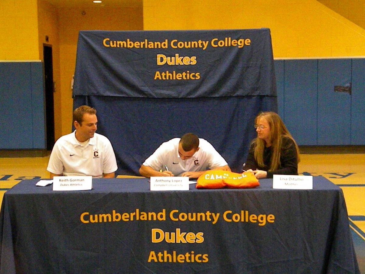 Lopez Signs National Letter of Intent - Cumberland County College