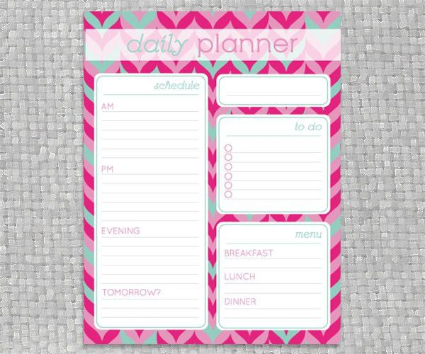 DIY+Printable+Daily+Planner++Coloful+Chevron+by+PrintableJoanie,+$ ...