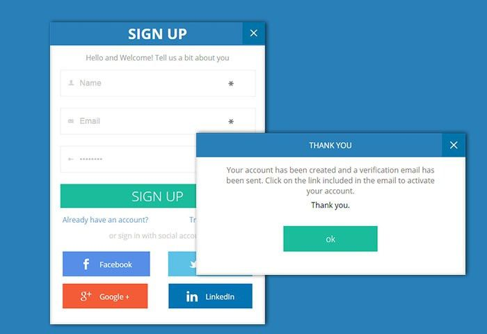 13 Free CSS3 Sign up & Registration Forms for Modern Websites