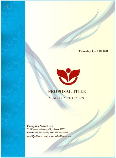 Word Documentation Cover Page Template | Sponsorship-Proposal ...