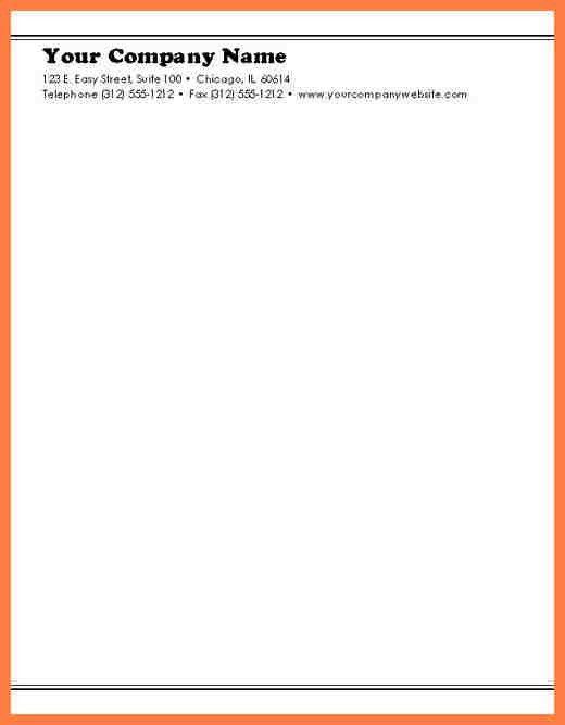 9+ basic letterhead template | Company Letterhead