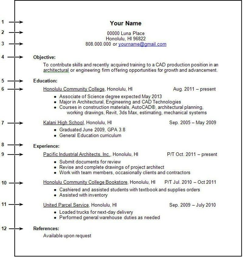 Sample Resume For College Students With No Experience - Gallery ...