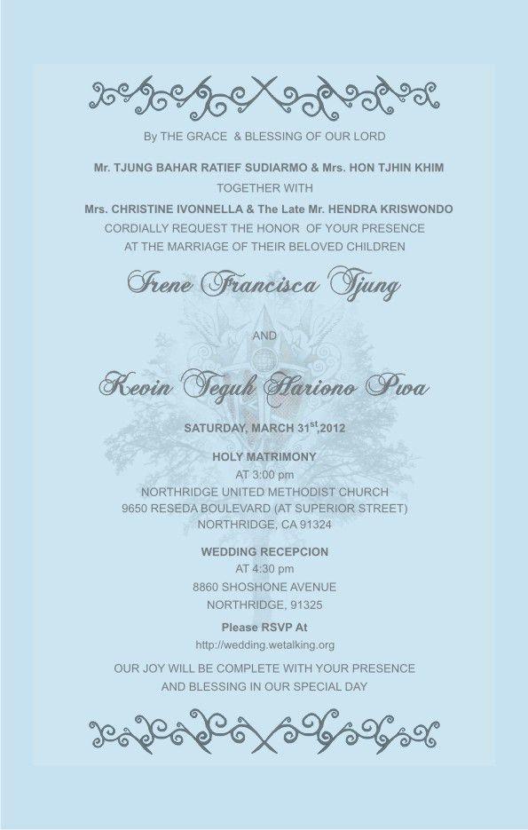 Wedding Card Sample In English | Wedding Gallery | Pinterest ...