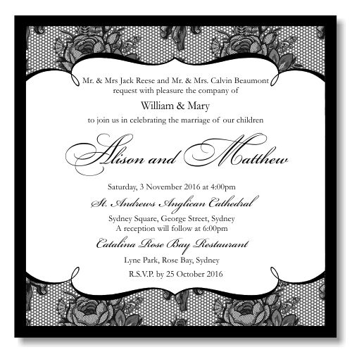 Wedding Invitation Paper Template | Best Template Collection