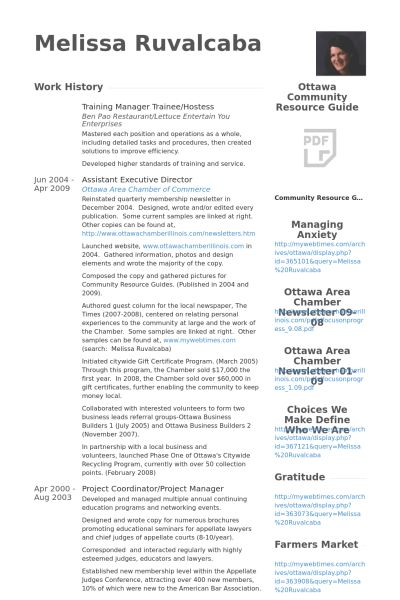 Hostess Resume samples - VisualCV resume samples database
