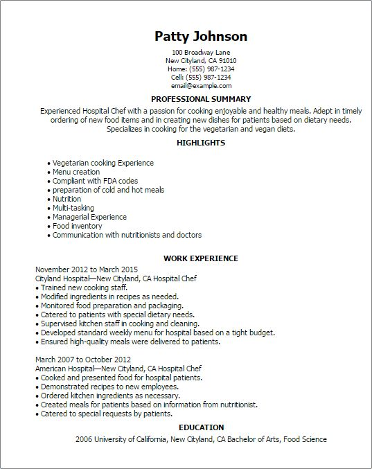 Download Resume For Hospital Job | haadyaooverbayresort.com