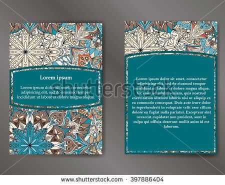 Abstract Brochure Flyer Design Template Book Stock Vector ...