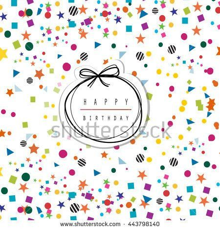 Greeting Card Template Colorful Confetti On Stock Vector 443798140 ...