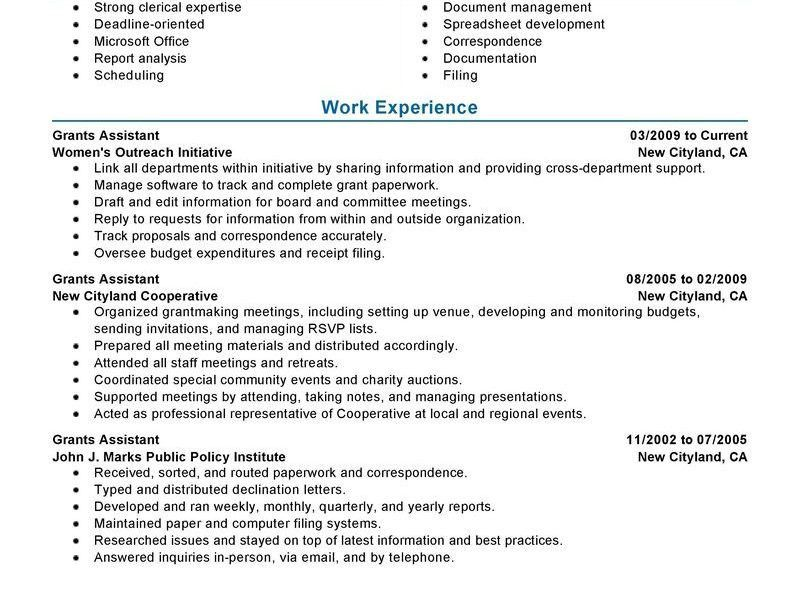 Cool Inspiration My Perfect Resume Sign In 1 Grants Administrative ...