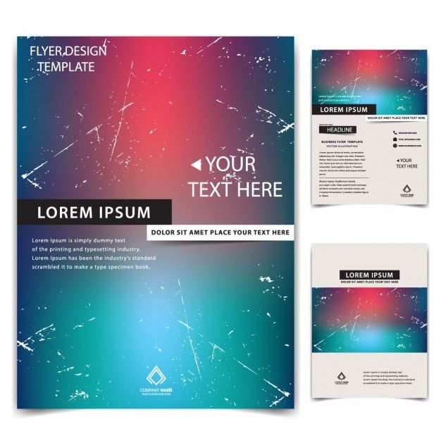 Business flyer templates with blurred background Vector | Free ...