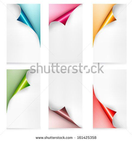 Curled White Paper Corner Orange Background Stock Vector 225279241 ...