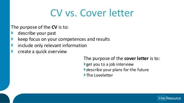 Cv and cover letter group counseling