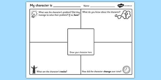 Character Description Writing Template - character description