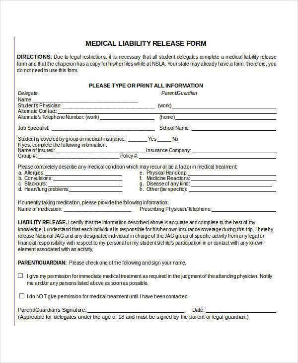 Physician Release Form. Authorization To Release Healthcare ...