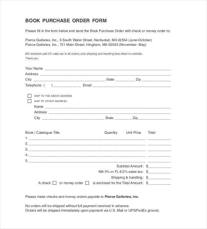 Purchase Order Template - 43 Free Word, Excel, PDF Documents ...