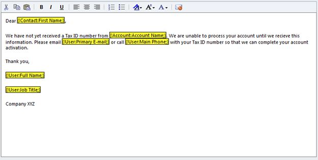 Create an Email Template in CRM 2011
