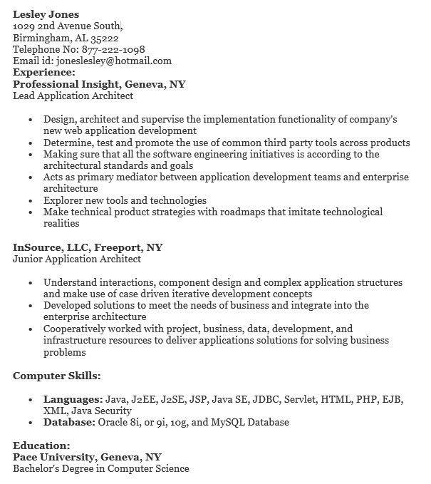 it architect resume samples. j2ee architect resume. java architect ...