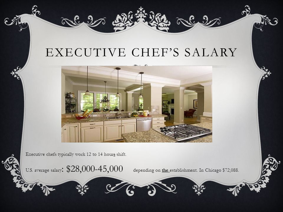 EXECUTIVE CHEF Chef –(French. Chef de cuisine) - the director or ...