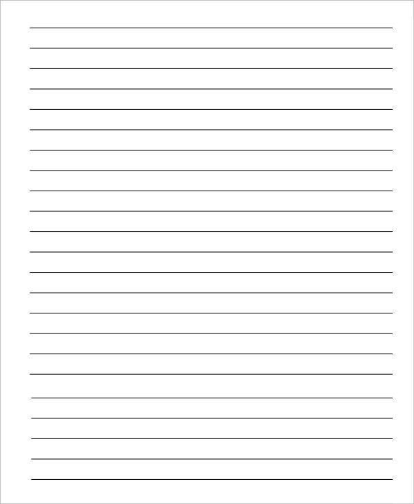 Printable Notebook Paper - 9+ Free PDF Documents Download | Free ...