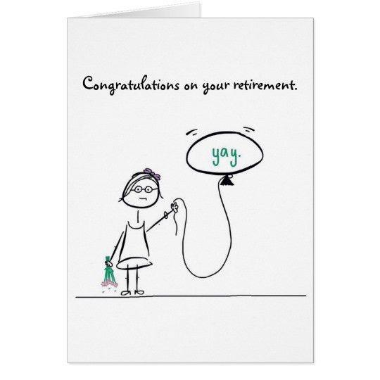 Congratulations on your retirement card   Zazzle.com