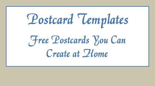 Welcome to Postcard-Template.com
