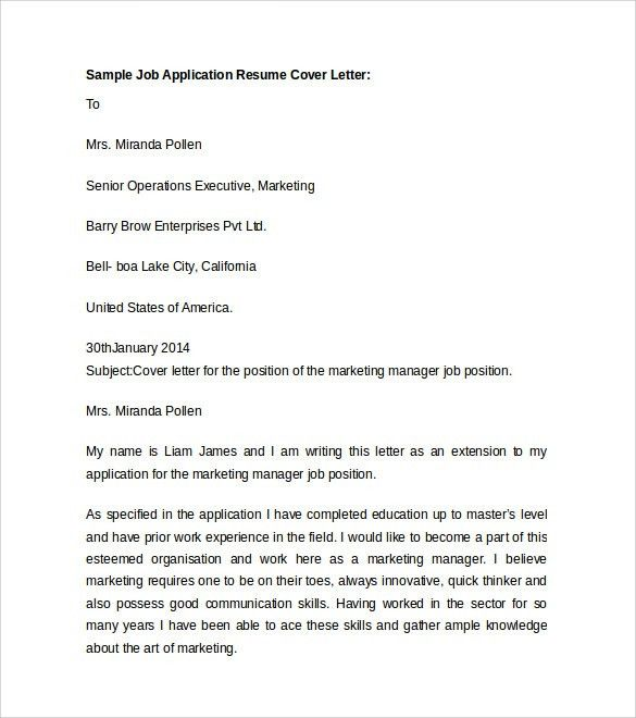 Sample Resume Cover Letter Template - 7+ Free Documents In PDF, Word