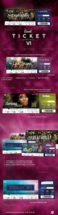 Elegant multipurpose event ticket | Ticket template and Event ticket
