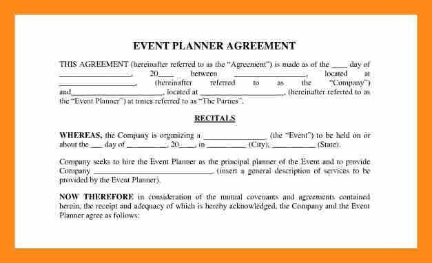 Event Planner Contract Example] Event Planner Contract Template For ...