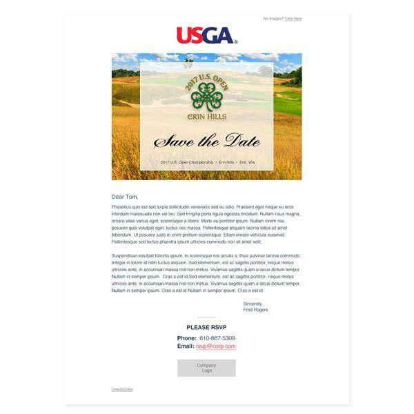 Email Invitation Template | USGA | 2017 U.S. Open Corporate ...
